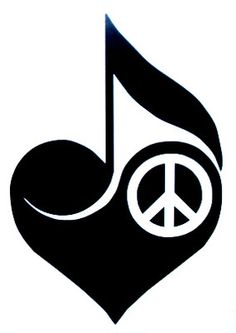 Love Peace Music T46 Vinyl Window Decal Free Shipping | eBay