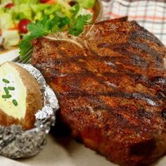 Rock's T-Bone Steaks Allrecipes.com