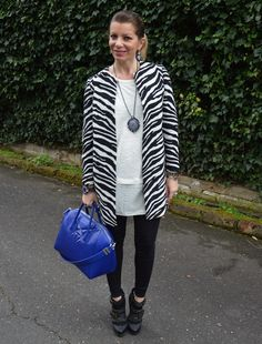 zebra prints and royal blue!