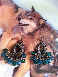 Lovely Antique Bronze Chandelier Crystal by WolfMountainJewelry, $20.00