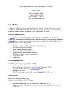 Banking Business Analyst Resume - http://topresume.info/banking-business-analyst-resume/