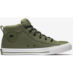 Converse Chuck Taylor All Star Street Mid Top Unisex Shoe. Nike.com ($65) ❤ liked on Polyvore featuring shoes, star shoes and unisex shoes