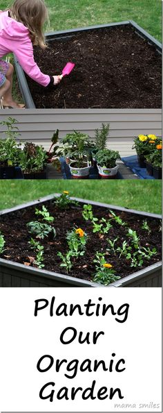 Gardening: planting a garden is one of our activities that we do on Mother's Day together and have for years!