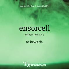 Today's Word of the Day is ensorcell. Learn its definition, pronunciation, etymology and more. Join over 19 million fans who boost their vocabulary every day. Unusual Words, Weird Words, Rare Words, Unique Words, Cool Words, Fancy Words, Big Words, Words To Use, Pretty Words