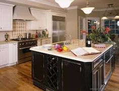 Image result for two tone kitchen cabinet