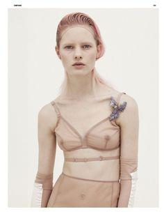 Hannah Holman Nude by Karim Sadli: Dazed & Confused May 2010