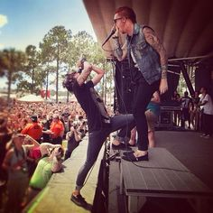 Memphis May Fire, NO! Sleeping With Sirens featuring Matty Mullins. IN ORLANDO! I'm in this crowd, you guys<3