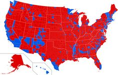 2016 United States Presidential Election by County - Imgur