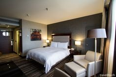 This is how a new designed room in the Marriott Hotel Frankfurt looks like