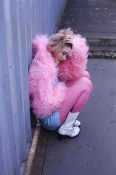 furry pink