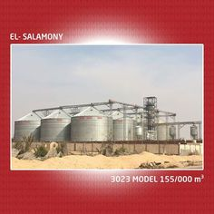12 adet 3023 Model silo tesisi El-Salamony, 155.000 m3 depolama kapasitesi ile Mısır ve Ortadoğu'nun en büyük projesidir. www.mysilo.com #mysilo #silo #silos #grain #grainstorage #tahıl #çelik #steel