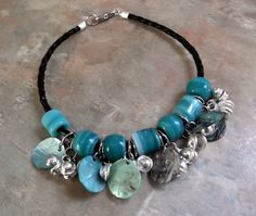 Cool Boho/Hippie Anklet with Bells Glass by WolfMountainJewelry, $11.00