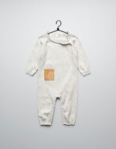 crossover romper suit with suede pocket - Collection - Mini (0-9 months) - Kids - ZARA Canada