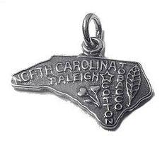 2503 north carolina state usa silver charm by princeofdiamonds, $9.43