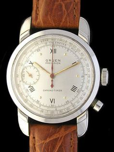 $2599 Vintage #Gruen Precision Chrono-Timer #wristwatch with #Heuer movement inside. Must... Have.... This... Watch.