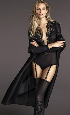 Photographed by Mert and Marcus, new La Perla protagonist Natasha Poly in the Fall/Winter 2015 campaign.