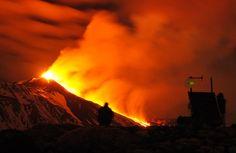 Erupting volcanoes
