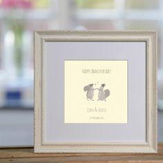Happy Squirrels personalised print £48
