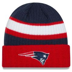 Men s New Era Navy New England Patriots Rib Start Cuffed Knit Hat New  England Patriots Gear 13338327a