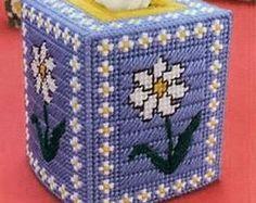LEAFY GLADE Boutique Size Tissue Box Cover por NiftyStitches4U