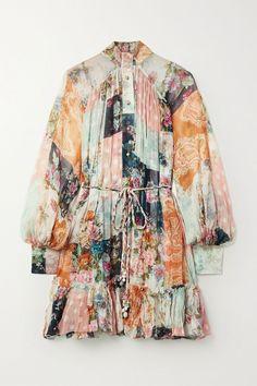 Multicolored silk-crepon Button fastenings through front silk; Jennifer Fisher, Fashion Outlet, Fashion Online, Fashion Sale, Braided Belt, Metallic Sandals, Pink Mini Dresses, Top Designer Brands, Mixing Prints