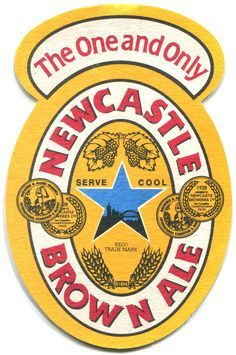 Newcastle Brown Ale Beer Logo Color Vinyl Decal Sticker - You Choose Size Wall Decal Sticker, Vinyl Decals, Vinyl Art, Newcastle Brown Ale, Sous Bock, Wall Stickers Cartoon, British Beer, Beer Mats, Ale Beer