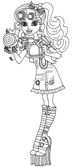 29 best Monster High Coloring Pages images on Pinterest in 2018 ...