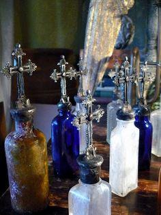 Vintage Cross Bottles by Isabeau Grey
