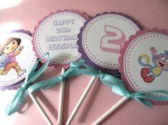 dora birthday ideas toddlers | Dora the Explorer Birthday Party Baby Shower by sonnyandthesquid by ...