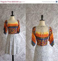 Vintage 1970s Dress 70s Hippie Dress Angel by SassySisterVintage, $40.00