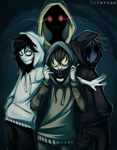 ●●● |Creepypasta| Hoodie Squad |+SPEEDPAINT| by 0ktavian. Trust me, these four would never agree to be in any squad.