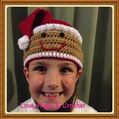 A headband with tons of personality! Instructions included for making the Christmas Thief, Snowman, Gingerbread and Penguin. Crochet Boot Cuffs, Crochet Boots, Headband Pattern, Knitted Headband, Crochet Headbands, Crocheted Hats, Reborn Dolls, Reborn Babies, Baby Dolls