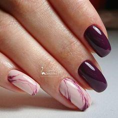 French Nails, Love Nails, Pretty Nails, Ring Finger Nails, Natural Nail Designs, Nagellack Trends, Gelish Nails, Burgundy Nails, Fabulous Nails
