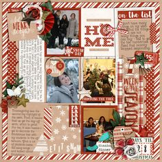 First Week of the Season Pocket Life '15: Holiday Collection by Traci Reed Includes: Alphas 3x4 titlers 3x4 journalers Squares Papers Elements Stickers Numbers  Template from Universal Album 5 by Cindy Schneider (layout flipped)