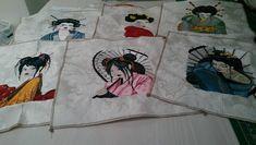 Geisha machine embroidery design
