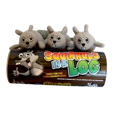 $16.99 Three bouncy squirrels in a log. What more could a dog ask for? Pouncy Pets Squirrels in a Log