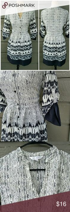 Charming Charlie Black and White Patterned Dress Excellent condition  Feel free to ask me any additional questions! Bundles 3+ 15% off. Happy Poshing! No trades, or modeling Charming Charlie Dresses