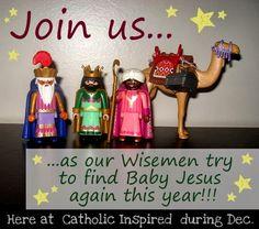 "Wisemen Adventures - Again this year ~ Sooo much fun!! An ""Elf on the Shelf"" alternative!!! at Catholic Inspired"