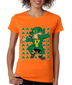 Dabbing Irish Leprechaun St patrick women t-shirt
