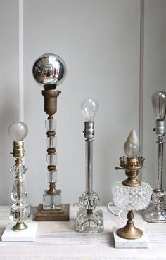 Repurposed Vintage lamp bases