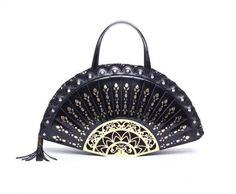 Handbag Braccialini A Forma Di Ventaglio Novelty Handbags Bags Blue Vintage