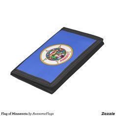 Flag of Minnesota Tri-fold Wallets