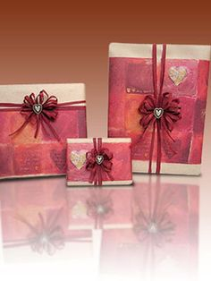 Wrap your sweetie's #gift in charmingly rustic scrapbook paper and raffia ribbon. #valentine #crafts