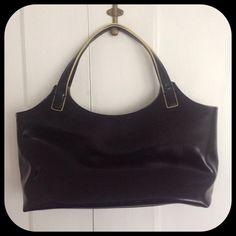 "Selling this ""Black structured handbag"" in my Poshmark closet! My username is: curlychel. #shopmycloset #poshmark #fashion #shopping #style #forsale #DKNY #Handbags"