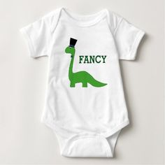 #cute #baby #bodysuits - #Fancy Green Dinosaur with Top Hap