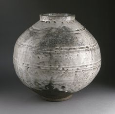 Jar in Underglazed Opaque White   Korea, Korean, Joseon dynasty (1392-1910), 18th century   LACMA