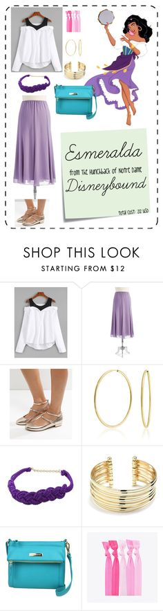 """""""Esmeralda"""" by ardaigh-dearg ❤ liked on Polyvore featuring Alex Evenings, New Look, Bling Jewelry, NOVICA, Belk Silverworks, Post-It, Liz Claiborne, Popband and disneybound"""