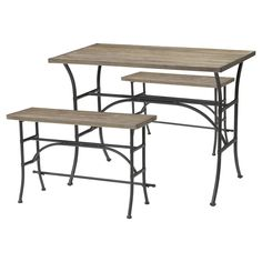 At Target: Acme Domingo 3-Piece Counter Height Dining Set - Oak/Black...under $400