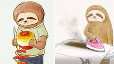 An Artist Shows the Daily Struggles of a Sloth and Its Hard to Feel Indifferent About Them Aura Colors, Best Funny Pictures, Funny Pics, Bad Art, Unusual Things, Japanese Artists, Funny Cartoons, Best Artist, What Is Love