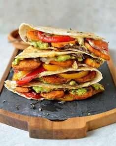 WANT --> Loaded Veggie Quesadillas